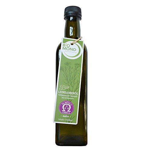 BIO Leinsamenöl Leinöl von BIOMOND / 500 ml / tagesfrisch gepresst / TESTSIEGER / ungefiltert / Speiseöl
