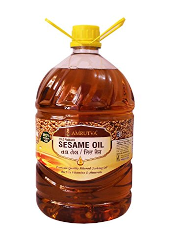 AMRUTVA Extra Virgin Cold Pressed sesame oil 5 Ltr