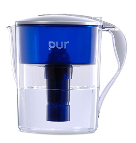 ater Filter Pitcher with LED and 4 BONUS Seasonal Decals by PUR Classic ()