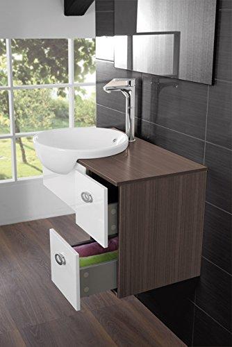 Mobile arredo bagno moderno fiordaliso sospeso cm 80 for Arredo bagno bianco