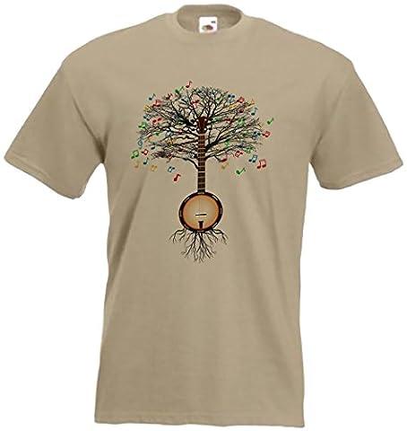Banjo T-shirt Musical Tree Country, folk, Irish in all sizes