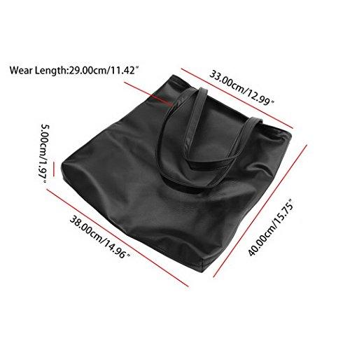 c6749fd0f75e2 ZEARO Damen Casual Handtaschen Shopper Tasche Schultertasche Shopping  Handbag Umhängetasche Scgwarz