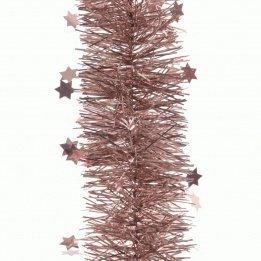 Ghirlanda di natale stellata rosa antico