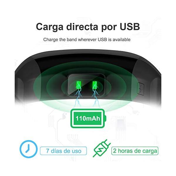 YANGOO Pulsera Actividad Inteligente Impermeable IP68 Pulsera Inteligente Pantalla Color HR con Correa Reemplazable… 7