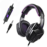 Sades SA920 3.5mm Wired Over Ear Stereo Bass Gaming Headphone Headset with Microphone