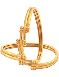 Zephyrr Fashion Gold Plated Bangles Pair For Women Daily Wear