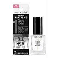 Wet n Wild e219b megalasthard as ice Nail Varnish Top Coat Hardener Tint Rock Party Weekend