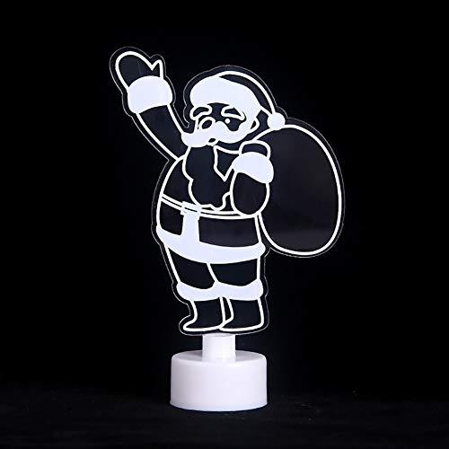 XY-M 3D-Acryl-Nachtlicht Kreative Bunte Stereo Batterie-Nachtlicht-Karikatur Farbe Dekoratives Licht,1