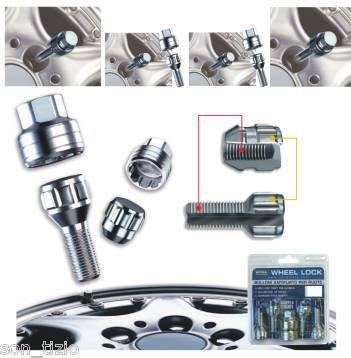 SonCar Felgenschloss, Muttern für VW Tiguan, für Alu- und Stahlfelgen geeignet. grau