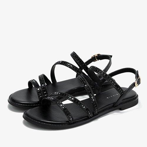 Black sandali comodi nero alti donna tacchi moda 35 Estate 8EFqRwtfx