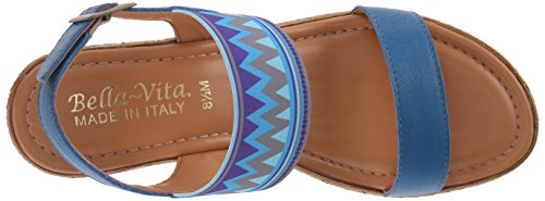Bella Vita Ponza Large Cuir Sandales Denim Blue