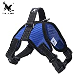 Formulaone TAILUP Deluxe Brustgurt Sattel Typ Zugseil Soft Einstellbare Komfortable Weste Harness Großen Hund Net Tuch Hundegurt - Blau