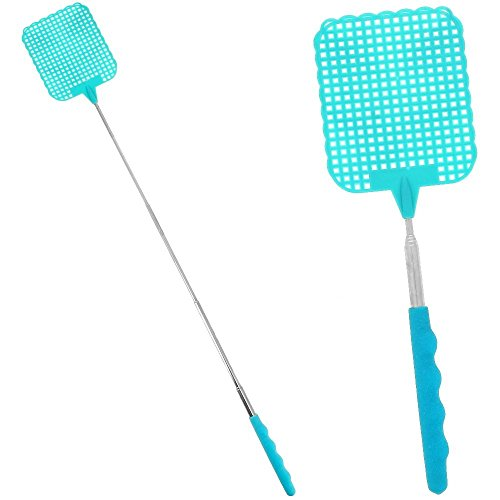 lot-de-2-tapettes-a-mouches-moustiques-guepes-frelons-couleur-bleue-avec-manche-telescopique-hyper-p