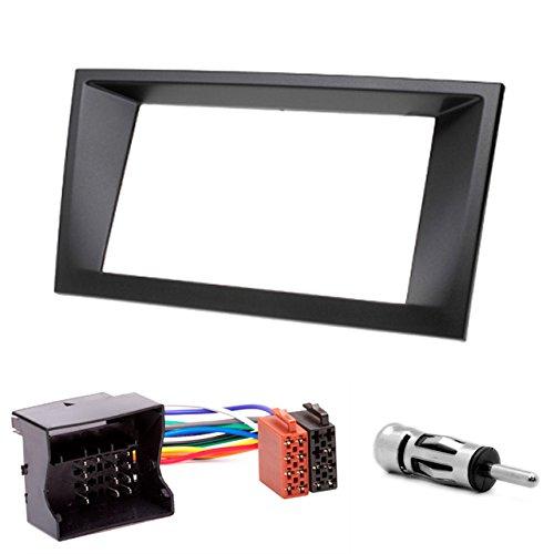 ppel DIN Autoradio Radioblende Einbauset mit ISO Adapter und Antennenadapter in-dash car audio installation kit for HEAD UNITS FORD Mondeo 2002-2006 173 x 98 mm (Car Head Unit)