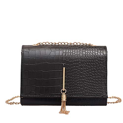Muium borse a spalla donna borsetta borsa del tote per donna borsa a tracolla borsa in pelle messaggero catena nero/marrone/caffè,per lavoro,uso quotidiano,viaggio