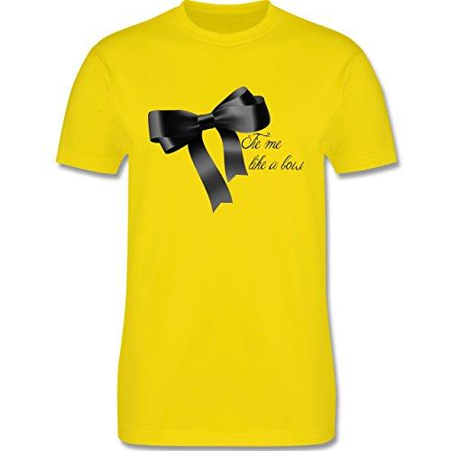 Statement Shirts - Schleife - Tie me up like a bow - Herren Premium T-Shirt Lemon Gelb