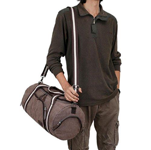 ZC&J Outdoor-Männer und Frauen Universal-Reisetasche, Urlaub Freizeit Reisen Bergsteigen Camping-Tasche, Leinwand Tasche solide Verschleiß Anti-Kratzer Anti-Riss-hochwertige Handtasche B
