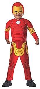 Avengers - Disfraz de Iron Man Deluxe para niños, infantil talla 1-2 años (Rubies 620015-T)