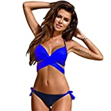 Tngjijish Bikini Women Swimwear Push-up Bikini Sets Micro Sexy Brazilian Bikinis Bottom Girls Beach Crisscross Swimsuit Bandage S-XXL 100BK4 XL