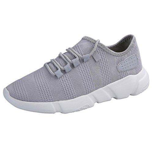 FNKDOR Laufschuhe Herren Sneaker Leichte Sportschuhe Atmungsaktiv Mode Turnschuhe Sport Schuhe (42 EU (CN:43), Grau)
