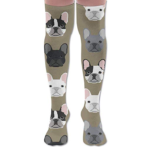 Jxrodekz French Bulldog Sweet Dogs Pet Puppy Dogs Upgraded Knee High Graduated Compression Socks for Women and Men - Best Medical,Nursing,Travel & Flight Socks - Running & Fitness.