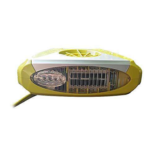 JXHD 12 V Auto Heizlüfter-Heizung Lüfter Defroster Defogger Luftreiniger Beleuchtung 150 Watt,Yellow