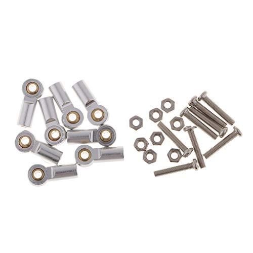 B Blesiya 8er/Set Gelenkkopf Kugelkopf Kugelgelenk Schrauben Zubehör Set für RC Modell - Silber