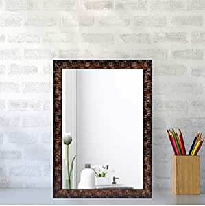 Creative Arts n Frames Synthetic Wall Mirror (10 x 12 inch, Brown)