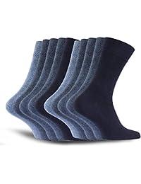 10 pares de calcetines de hombre calcetines de algodón de trabajo calcetines de ocio - cómodo sin costuras de presión - cómodo cómodo cinturón - ajuste perfecto