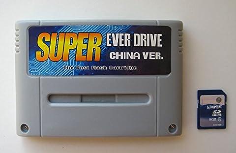 Super Nintendo SNES/SFC Super Everdrive Flash Cart With 8GB SD Card Nintendo Super NES Famicom
