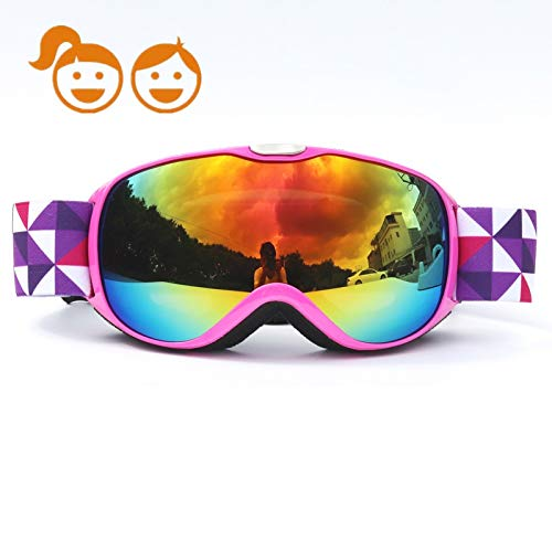 9122f48762c4 HONCENMAX Kids Ski Goggles - Snow Snowboard Goggles - Helmet Compatible -  for Child Children Youth