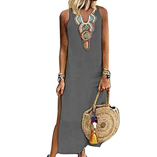 Vestido Mujer Verano Flojo Casual Largo