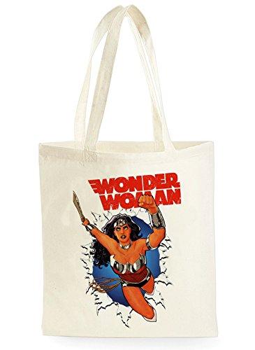 Uk Print King Wonder woman Poster, Einkaufstasche fürs Einkaufen, Picknick, Zuhause, Lagerung und Schule, tote bag