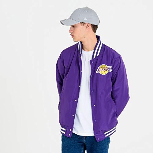 New Era Los Angeles Lakers Bomberjacke, Purple, XXL