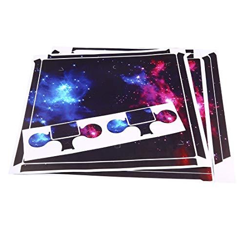 Preisvergleich Produktbild Wasserdichte Ganzkörper-Vinyl-Haut-Aufkleber-Abziehbild-Abdeckung für Sony PS4 Pro-Konsole und 2Pcs Controller Protective Skins - Colorful