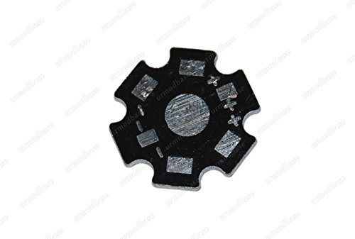 Teller-chip (5x Aluminium Kühlkörper Epistar 1W 3W LED High Power Chip Diode Teller Beleuchtung DIY)