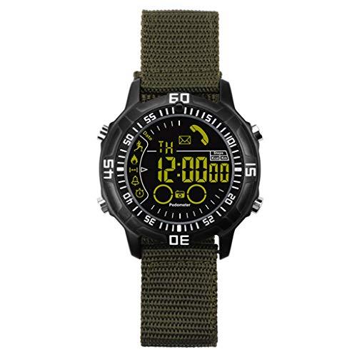 HHJEKLL Pulsera Inteligente Calentador de Actividad Deportiva Calorías Podómetro Smartwatch Cronómetro Llamada Recordatorio de SMS 24 Meses Tiempo en Espera Reloj Inteligente, Reloj Inteligente Verde