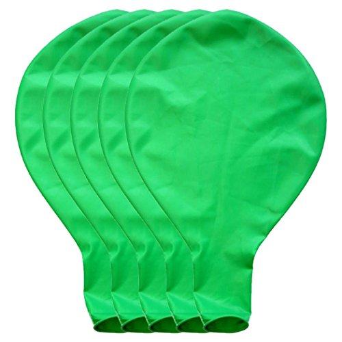 BZLine Großer riesiger Ovaler Großer Latex-Ballon, 5 Stück 36 Zoll 90cm Perle Latex Luftballons für Party Luftballons Spielzeug für Kinder Hochzeit Party Festival Dekoration (Grün)