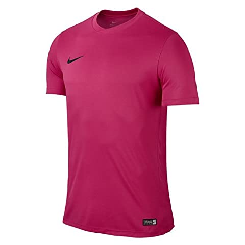 Nike Men Park VI Short Sleeve Top - Vivid Pink/Black, Small