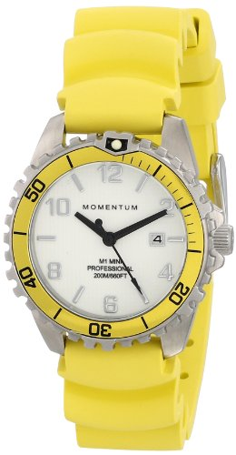 Momentum Womens Quartz Watch, Analogue Classic Display and Rubber Strap 1M-DV07WY1Y