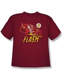 Das Flash-purpurnen Comet Jugend Kurzarm T-Shirt in Kardinal von DC Comics