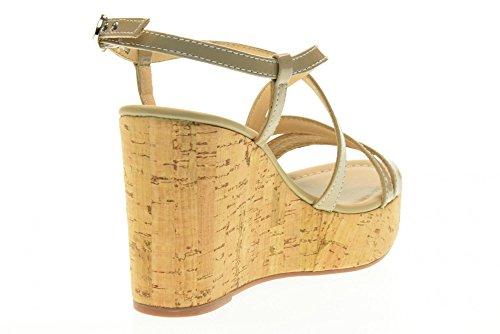 NERO GIARDINI scarpe donna sandali zeppa P717660D/410 Sabbia