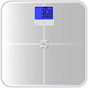 Smart Weigh Precision Body Composition Analyser And Digital Bathroom Scale With Large Lcd