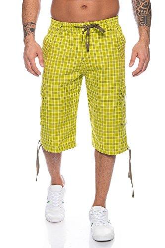 Herren Cargo Shorts mit Dehnbund - mehrere Farben ID567, Größe:XL, Farbe:Lemon