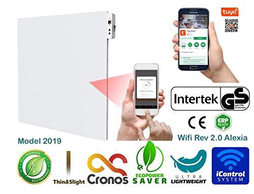 ORIGINAL CRONOS APP WiFi Heizpaneel IR Infrarot 450W Heizung mit Thermostat - WiFi Modul 2.0 - Herstellergarantie - GS Prüfsiegel - Überprüft durch deutsches Prüfinstitut Intertek -