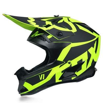 Dabobo Casco de Motocross Casco de moto de cara completa para adultos...