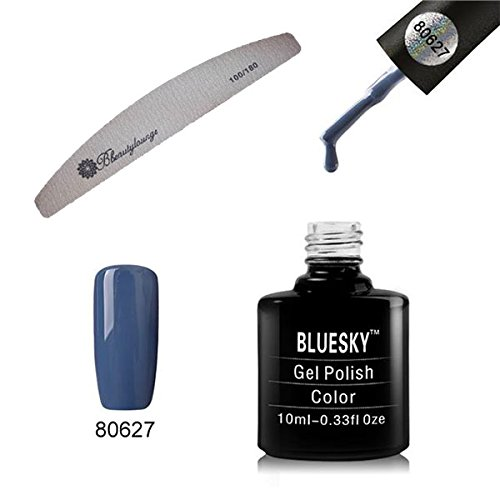 BLUESKY Craft Kultur Collection 80627 UV LED Gel Soak Off Nagellack, 10 ml, denim Patch