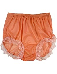 299154388dbf93 NNH04D26 Orange Handmade Briefs Nylon New Knickers Panties Underwear  Lingerie Men Women