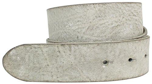 Brazil Lederwaren Wechselgürtel aus weichem Vollrindleder ohne Schließe 4,0 cm