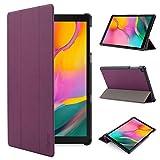 iHarbort Custodia in Pelle Cover per Samsung Galaxy Tab A 10.1 Pollice (Pubblicato 2019 SM-T510 T515) - Ultra Sottile di Peso Leggero Case Custodia in Pelle (Viola)